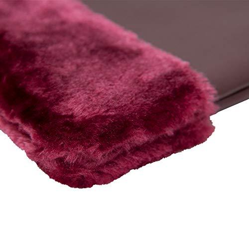 Plus Side Strap 3 Detachable Hand Styles Fur Plum Me Women Fashion Pouch Leather Handle Clutch Faux Bag dXU7tq