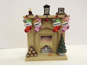 Christmas Stocking Fireplace Display - Large: Amazon.co.uk ...