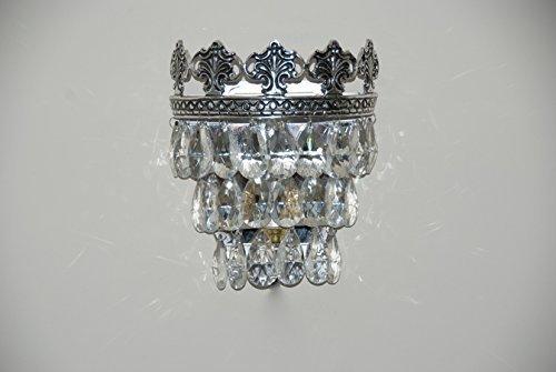 Vintage stile francese cristallo applique da parete in vetro: amazon