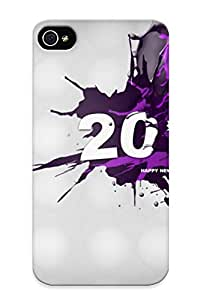 Freshmilk High Quality Shock Absorbing Case For Iphone 4/4s-abstract Purple 2014