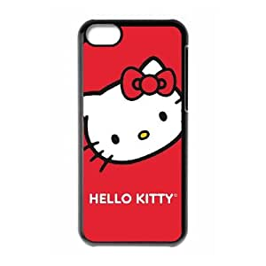 Hello Kitty Cropped Face Red iPhone 5c Cell Phone Case Black phone component AU_495475
