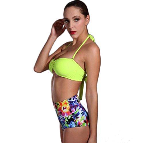 Traje de baño de moda bikini de alta cintura de dos piezas traje Multi - color
