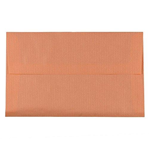JAM PAPER A10 Translucent Vellum Invitation Envelopes - 6 x 9 1/2 - Salmon Pink - Bulk 250/Box