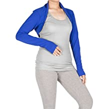 Lofbaz Women's Long Sleeve Bolero Shrug Clothing Crop Top