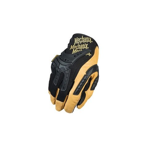 Mechanix Wear CG40-75-010 CG Heavy Duty Full Finger Leather and Rubber Mechanics Gloves with Low Profile Cuff and Multi-Zone Padded Palm, Large, (Wear Padded Palm Gloves)