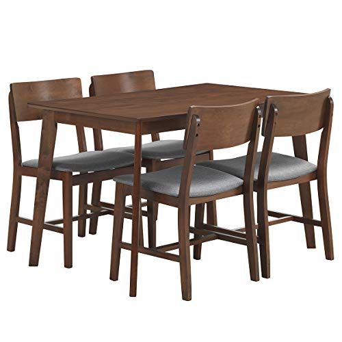 Giantex 5 Piece Dining Table Set with 4 Chairs Upholstered S