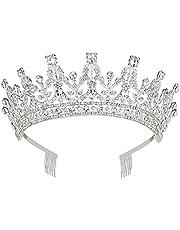Makone Tiara kristallen kroon met strass-kam