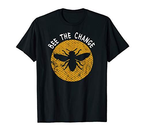 Bee The Change I Beekeeping Beewax Lover T-Shirt And ()