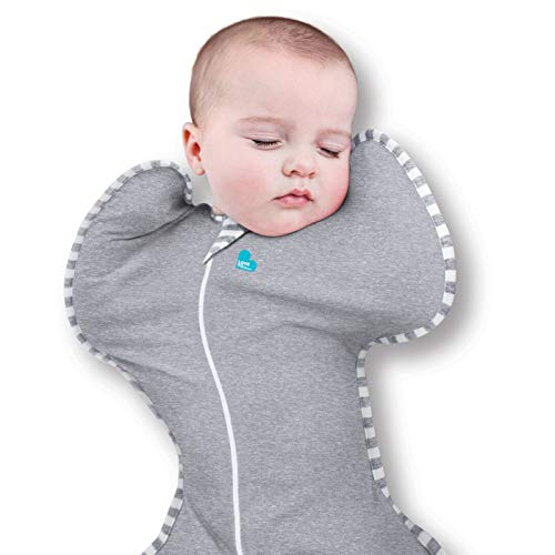 Love To Dream Swaddle UP, Gray, Small, 7-13 lbs, Dramatically Better Sleep, Allow Baby to Sleep in Their Preferred arms up Position for self-Soothing, snug fit Calms Startle Reflex