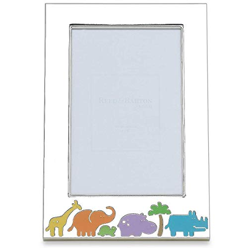 (Reed & Barton Jungle Parade Silver Plate 4-Inch by 6-Inch Frame)