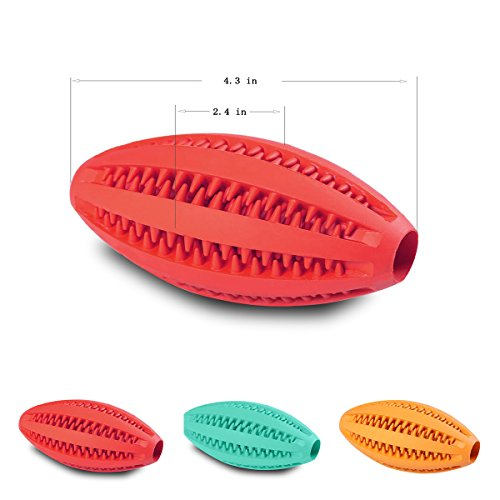 on sale TOY IQ BALL TOYS FOR DOGS Durable Non Toxic Long Lasting Tooth Cleaning Dog Toy Balls for Pet IQ Training/Playing/Chewing, Soft Rubber, Bouncy, 6 Styles