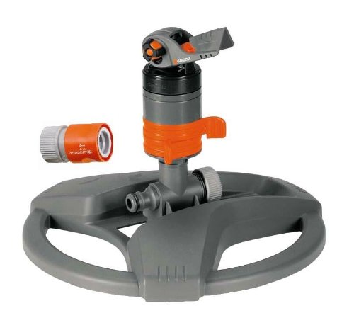 Gardena 8143 4,800 Square Foot Turbo Drive Sprinkler On Base