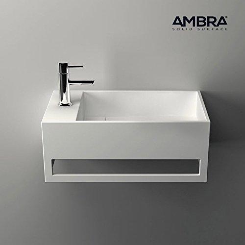AMBRA Lavamani Sospeso, Sottolavello rettangolo in solid superficie–Mona G