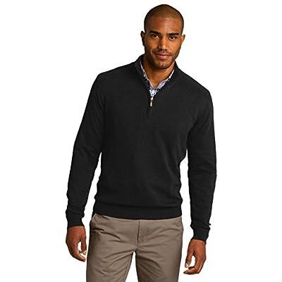 Top Port Authority 1/2-Zip Sweater. SW290 Black supplier