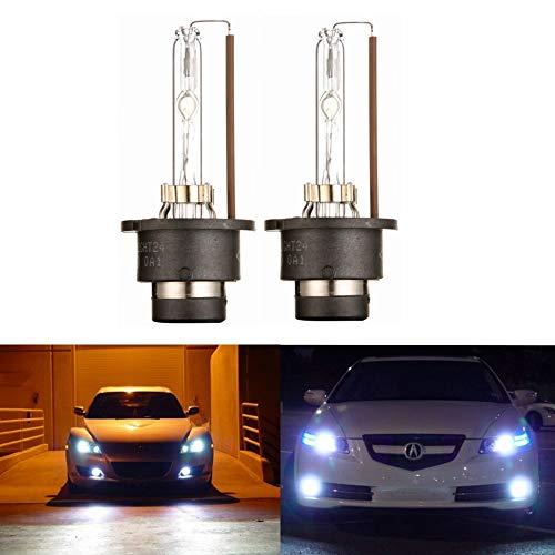 JINYJIA 12V 55W Xenon HID Conversion Kit Headlight for Car Vehicle Replacement Bulb H7//6000K