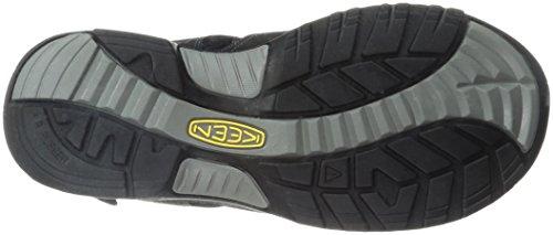 Enthousiast Mens Rialto Open Teen Sandaal Zwart / Neutraal Grijs