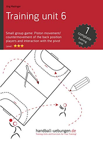 (Small group game: Piston movement/countermovement of the back position players and interaction with the pivot (TU 6): Handball technical literature (Training Unit))