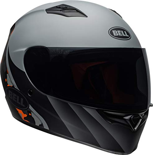 Bell Qualifier Full-Face Motorcycle Helmet (Integrity Matte Grey/Orange Camo, XX-Large)