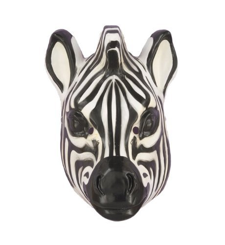 Deluxe Kids Zebra Mask by Caufield's Zebra Mask Plastic