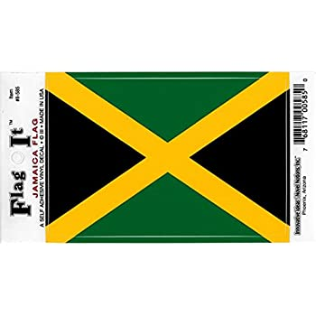 Jamaica flag decal for auto truck or boat