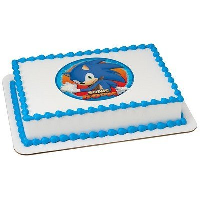 DecoPac Sonic The Hedgehog Sonic Boom Licensed Edible Cake Topper #58165 ()