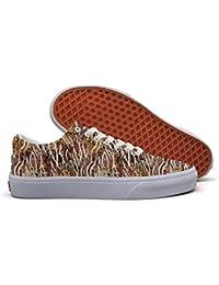 Leopard Low Top Canvas Sneakers for Women Skateboard...