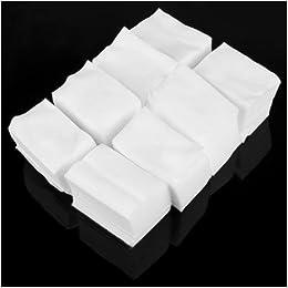 900 cuadrados de celulosa de algodón 6 x 4 cm , para manicura, desechables: Amazon.es: Libros