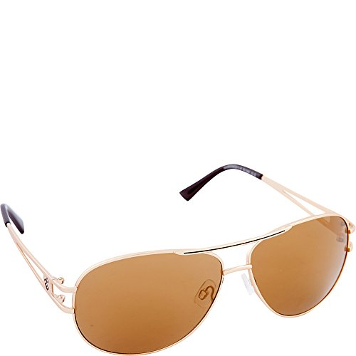 Rocawear Men's R1395 GLD Aviator Sunglasses, Gold, 64 - Glasses Rocawear