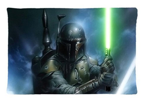 Boba Fett Armor Star Wars Custom Pillowcase Rectangle Pillow Cases 20x30 Inches (one side)