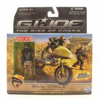 G.I. Joe Movie The Rise of Cobra Exclusive Ram Cycle With Sandstorm
