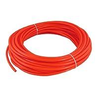 uxcell Orange Red 25M 82Ft 8mm OD 5mm ID Polyurethane PU Air Tube Hose
