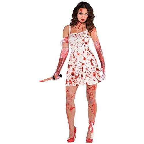 AMSCAN Blood Splatter Dress Halloween Costume for Women, One Size