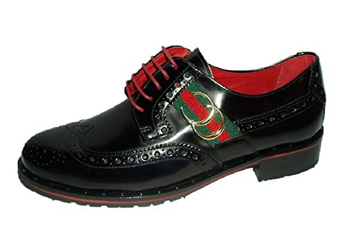 Vitelo 7685 Nieves Stringate Scarpe Nero Donna Zapatos Martín aq6nx4wqv