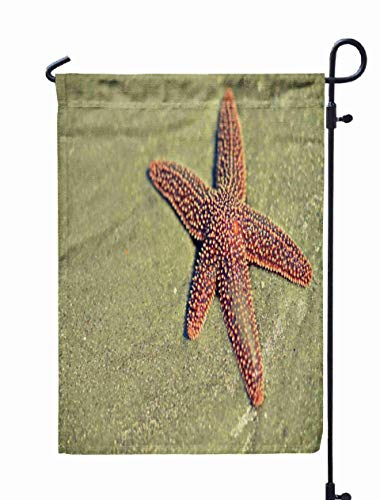 Shorping Holiday Flags for Outside, 12x18Inch Welcome Garden Flag Sea Starfish The Beach Island at Tybee Georgia for Holiday and Seasonal Double-Sided Printing Yards Flags ()