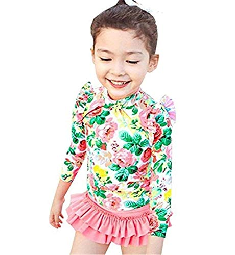 Baby Girls Toddler Kids 2 Pcs Long Sleeve Floral