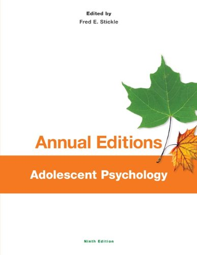 Annual Editions: Adolescent Psychology, 9/e