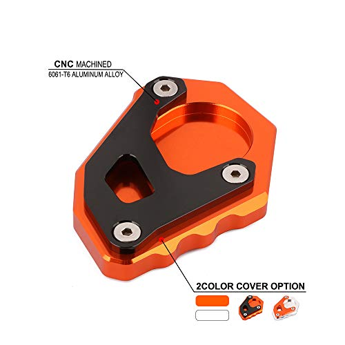 AnXin CNC Motorbike Foot Pad Side Stand Kickstand Extension Support Plate Parts For KTM Adventure 1050 1090 Super Adventure/R 1190 1290 - Foot Support Kickstand Bike
