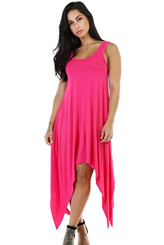 Rosa Flare simétrico Bodycon Vestido De Midi Club Wear TAMAÑO M UK 10 –�?2
