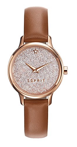 Esprit Watch TP10928 Light Brown - ES109282003-Brown - calfskin-Round - 28 mm