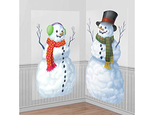 Wonderland Room Winter Roll (Snowmen Scene Setters Add-Ons Christmas Accessory, 2 Ct. | Plastic)