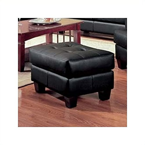 Coaster Home Furnishings 501684 Contemporary Ottoman, Black Samuel Black Bonded Leather