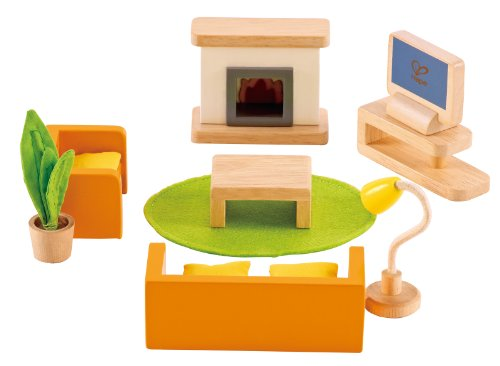Dollhouse Furniture Doll (Hape Wooden Doll House Furniture Media Room Set)