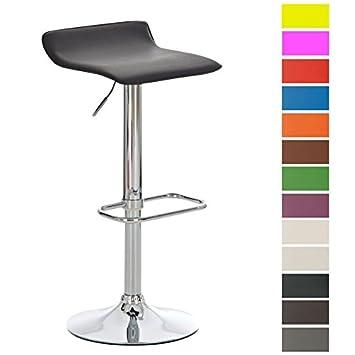 CLP Tabouret de Bar Réglable en Hauteur DYN - Assise Revêtu de Similicuir –  Chaise de 49c63eaeb550