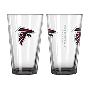 2015 NFL Football Elite Series Beer Pints - 16 ounce Mixing Glasses, Set of 2 (Falcons)