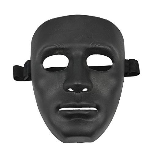 Masque Noir - Phfu Noir Masque D 39 Halloween Materiau Abs - Halloween Peel Party Masks Skin Tester Spirit Mask Bleach Dental Evil Funny Halloween Face Print Ladybug Bead Tool Scary Facial Twe ()