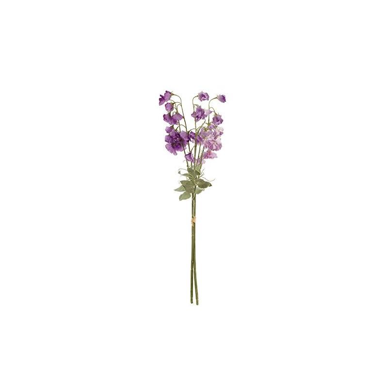 silk flower arrangements napa home & garden sweet pea stems bndle/2 blue/violet