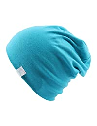 CHENTAI Plain Knitted Cotton Skullies Beanies for Kid Children Embroidery Crown Hat Cap Spring Autumn Outdoor Caps