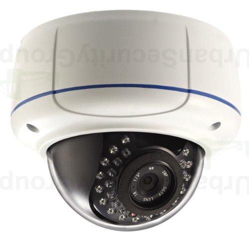 USG 1080P 2MP HD IP PoE Dome Security Camera 2.8-12mm Varifocal Lens IR LEDs 115 Feet Night Vision IR-Cut IP66 NEMA 4x Outdoor Rated ONVIF