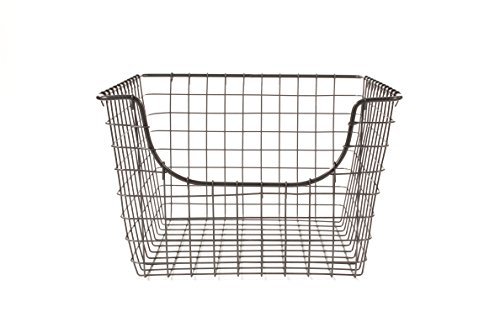 Spectrum Diversified Scoop Wire Storage Basket, Medium, Industrial Gray (Buy Wire Baskets)