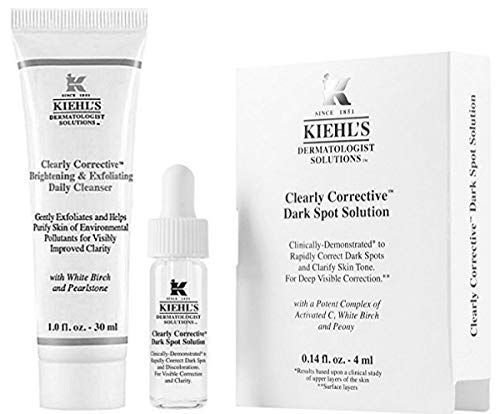 Solutions Corrective - Kiehl's Biolage Clearly Corrective Dark Spot Solution & Brightening & Exfoliating Daily Cleanser Travel Size, Set of 2